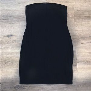 Urban Outfitters Black Strapless Cotton Dress